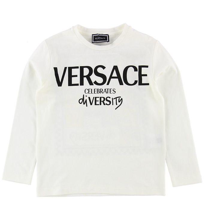 Image of Versace Bluse - Hvid m. Print (NE750)
