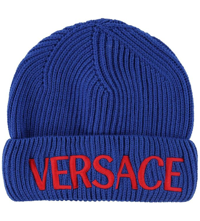Image of Versace Hue - Uld - Blå m. Logo (NE753)