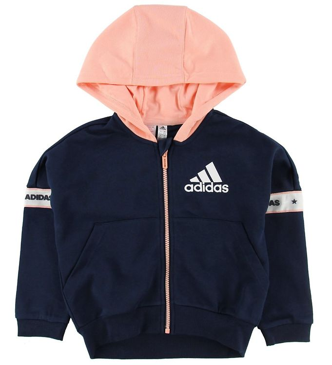 Image of adidas Performance Cardigan - Navy/Koral m. Logo (NF438)