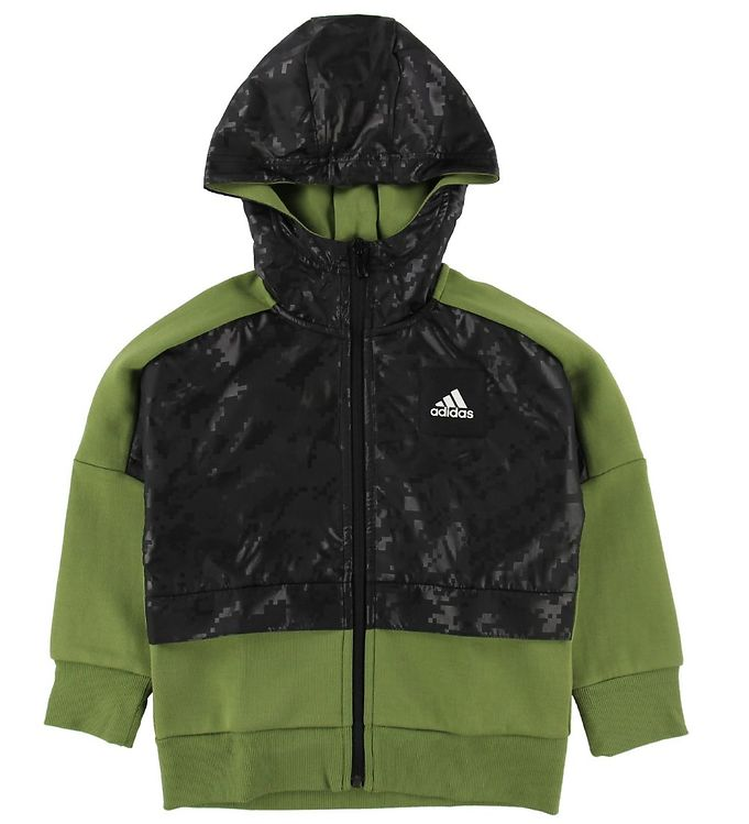 Image of adidas Performance Cardigan - Sort/Grøn m. Mønster