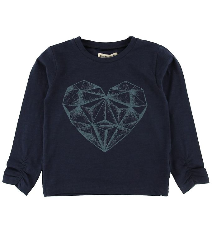 Image of Small Rags Bluse - Navy m. Hjerte (NF636)