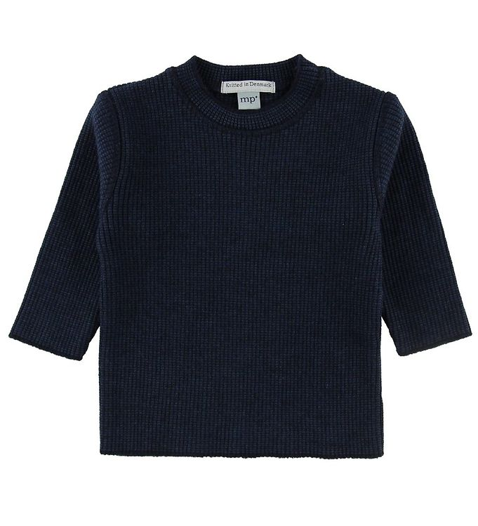 Image of MP Bluse - Uld/Bomuld - Navy (NF906)