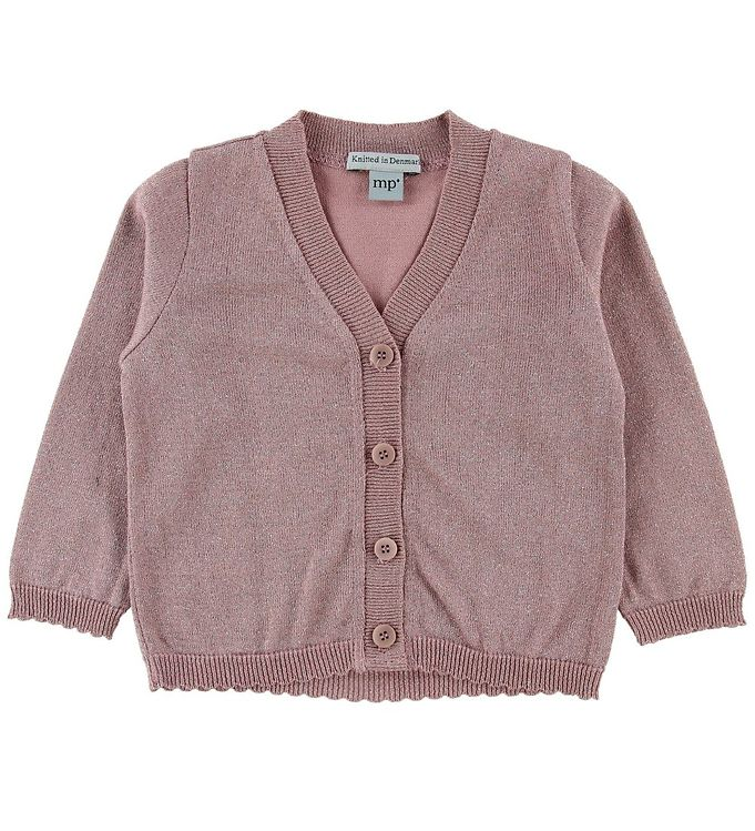 Image of MP Cardigan - Gammelrosa m. Glimmer (NF913)