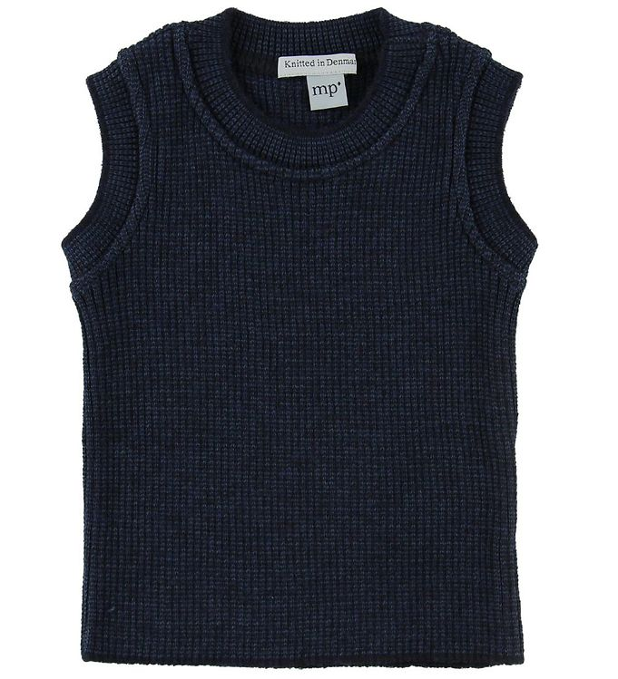 Image of MP Vest - Uld/Bomuld - Navy (NF916)