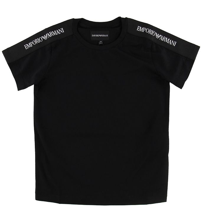 Image of Emporio Armani T-shirt - Sort m. Logostribe (NF946)