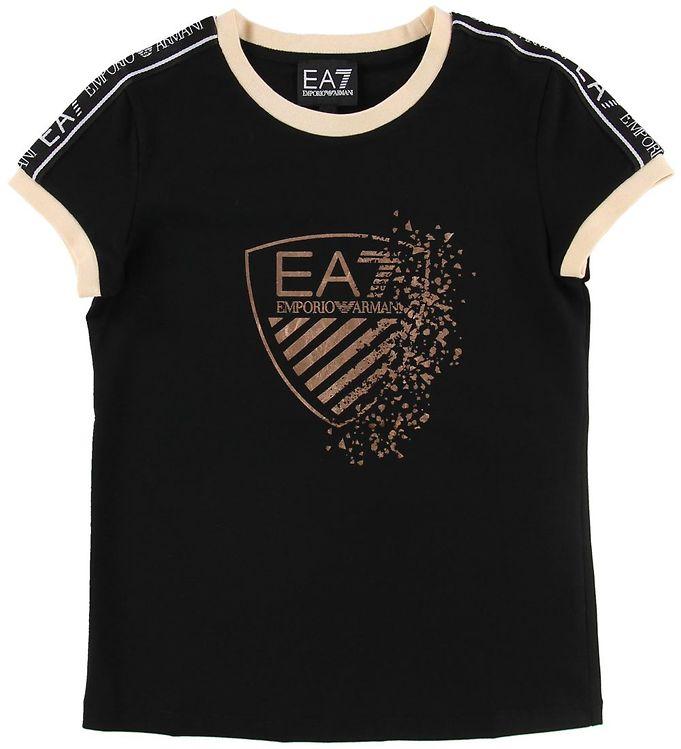 Image of EA7 T-shirt - Sort m. Print/Logostribe (NG115)
