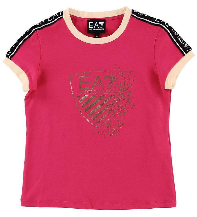 Image of EA7 T-shirt - Pink m. Print/Logostribe (NG118)