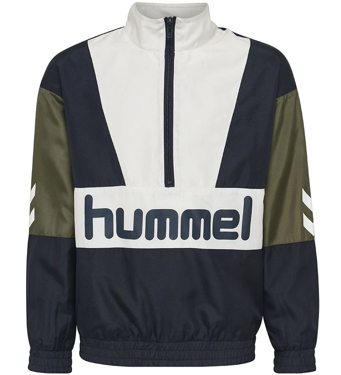 Image of Hummel Teens Cardigan - Snoop - Navy/Hvid m. Logo (NG158)