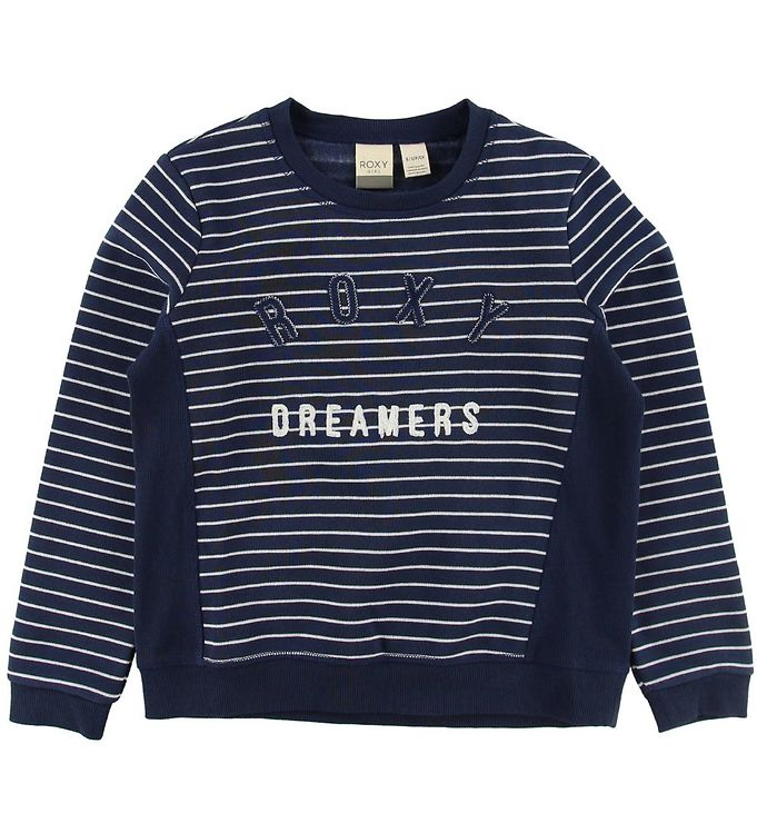 Image of Roxy Sweatshirt - Navy m. Striber/Logo (NG482)