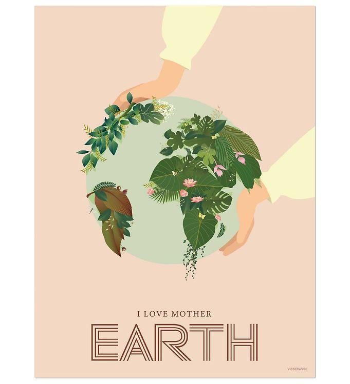 Image of Vissevasse Plakat - 30x40 - I Love Mother Earth (NG502)