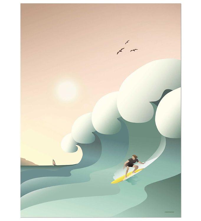 Image of Vissevasse Plakat - 50x70 - Surfer (NG503)