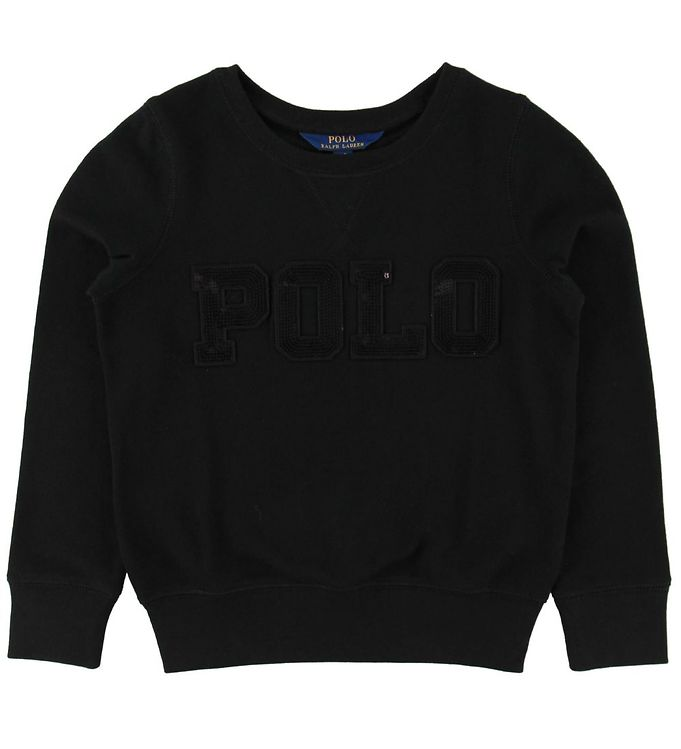 Polo Ralph Lauren Sweatshirt - Sort m. Pailletter