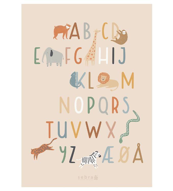Image of Sebra Alfabet Plakat - 50x70 cm - Wildlife (NG915)