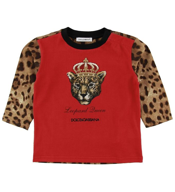 Image of Dolce & Gabbana Bluse - Leopard Queen - Rød m. Leopard (NG952)