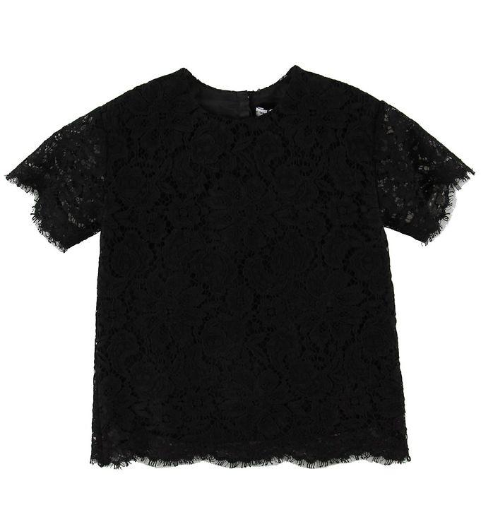 Image of Dolce & Gabbana T-shirt - Sort m. Blonder (NH538)