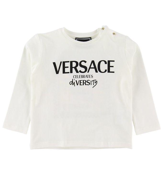 Image of Versace Bluse - Hvid m. Print (NH553)