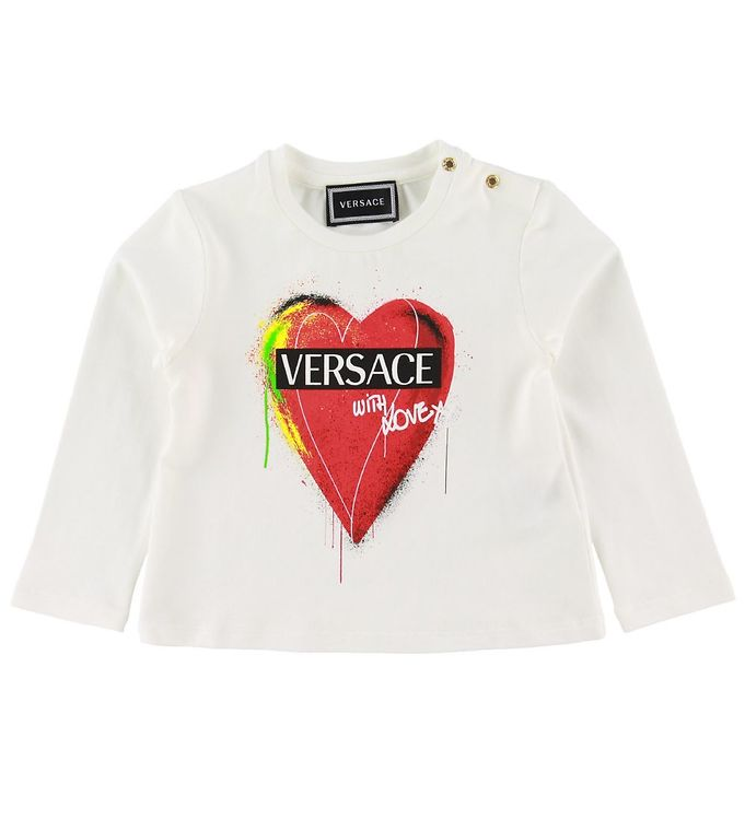 Image of Versace Bluse - Hvid m. Hjerte (NH555)