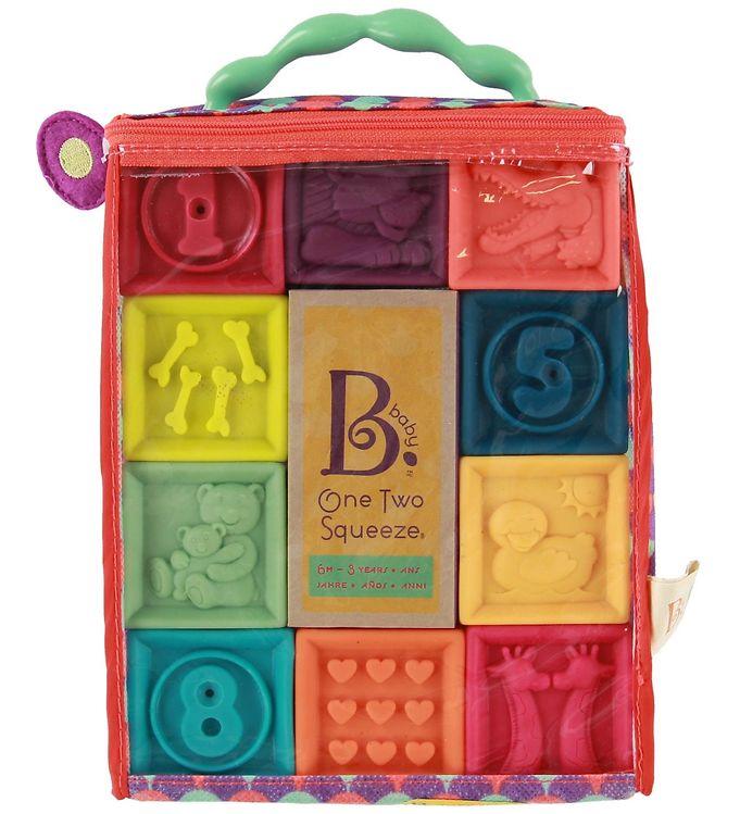 Image of B. toys Bløde Klodser - One Two Squeeze - Multifarvet (NH683)