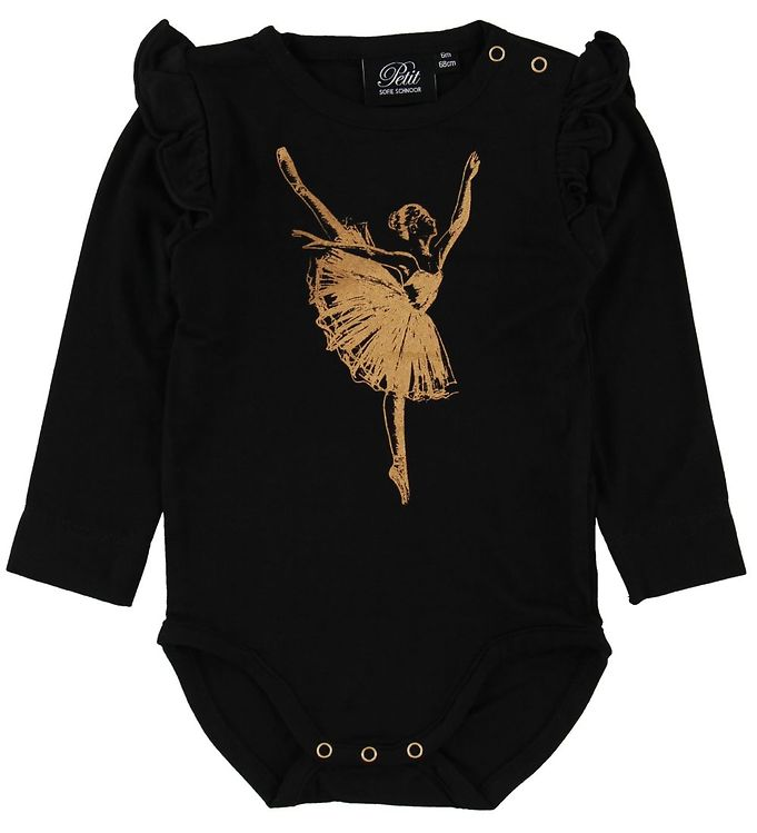 Image of Petit By Sofie Schnoor Body l/æ - Dicte - Sort m. Ballerina (NH704)
