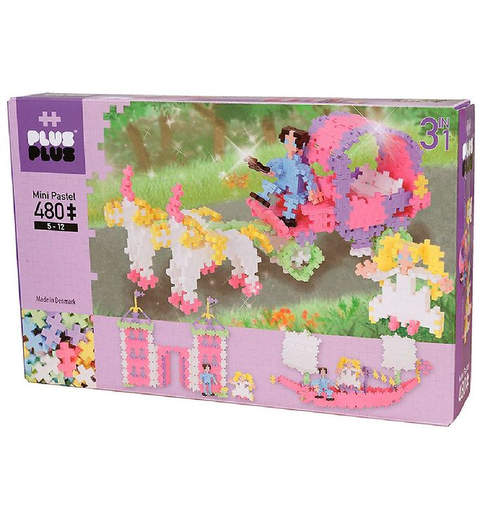 Image of Plus-Plus Mini - 3 i 1 - 480stk - Pastel - Princess (NH970)