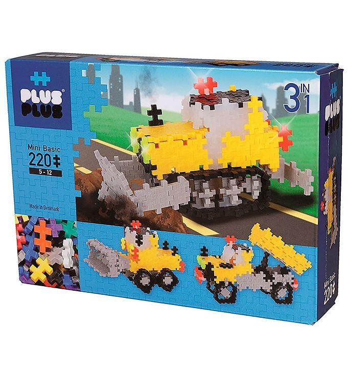Image of Plus-Plus Mini - 3 i 1 - 220stk - Basic - Roadwork (NH981)