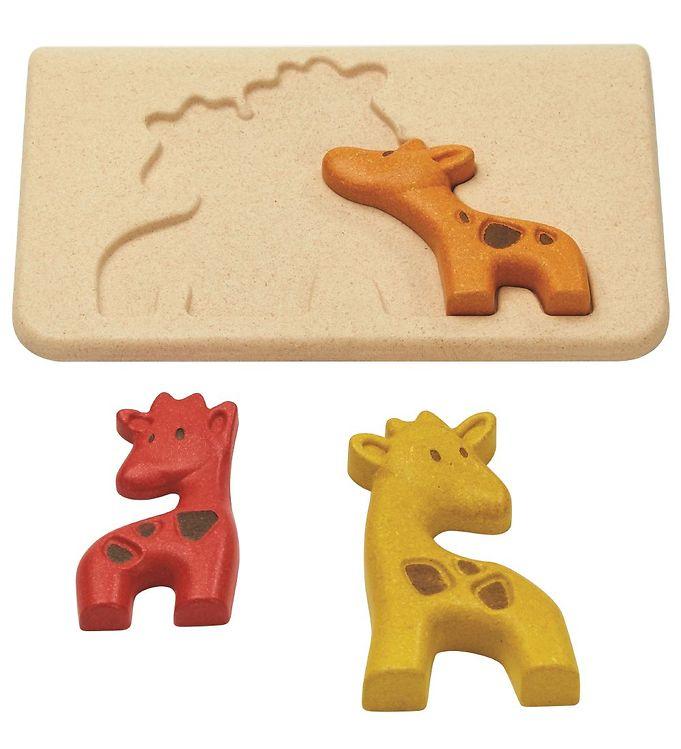 PlanToys Giraf Puslespil - Natur/Gul/Orange/Rød - 13 - PlanToys,PlanToys,PlanToys Legetøj,PlanToys Puslespil,PlanToys Trælegetøj - PlanToys
