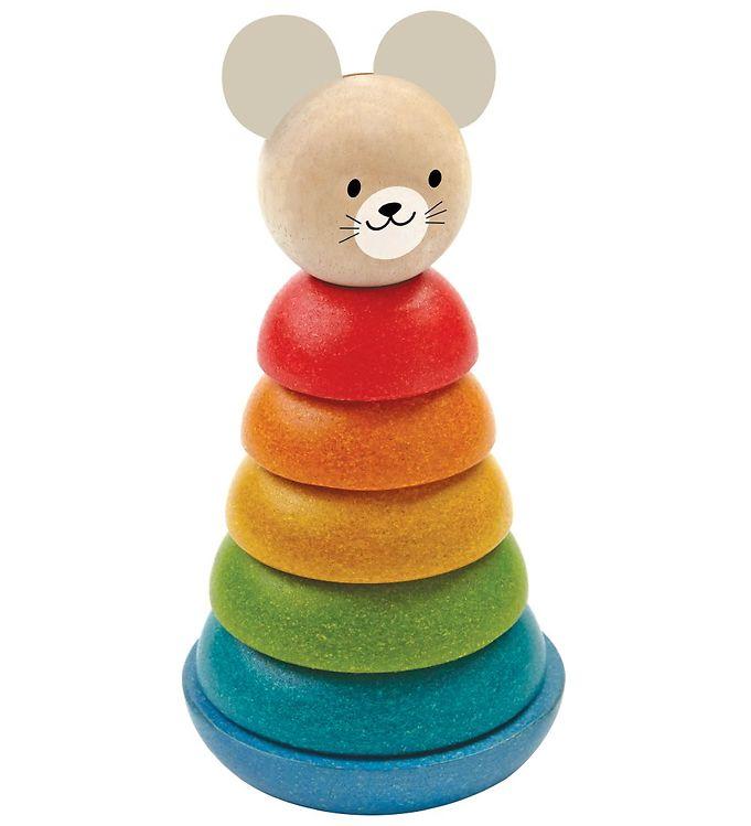 PlanToys Stable-Ringe - Multifarvet - PlanToys Babylegetøj,PlanToys Trælegetøj - PlanToys