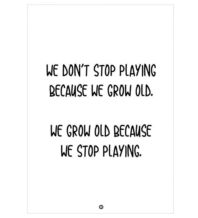 Image of Citatplakat Plakat - 50x70 - We Grow Old (NI473)