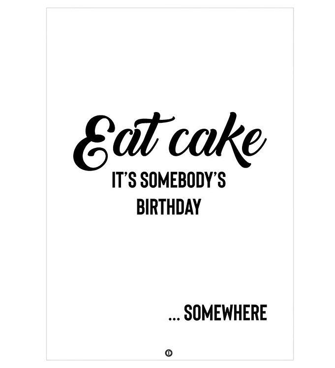 Image of Citatplakat Plakat - A3 - Eat Cake (NI479)