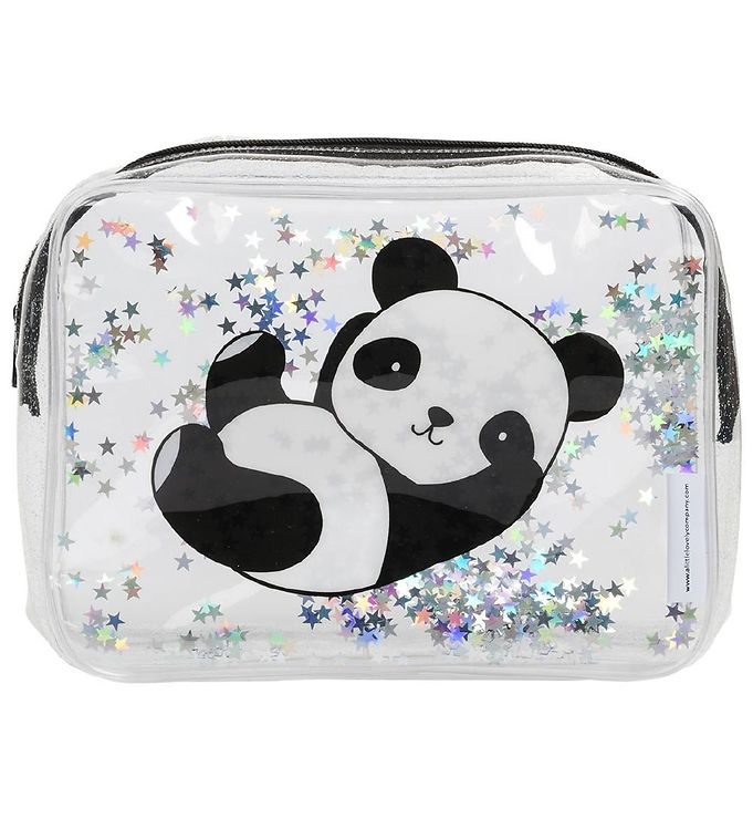Image of A Little Lovely Company Toilettaske - Glitter - Panda (NI497)