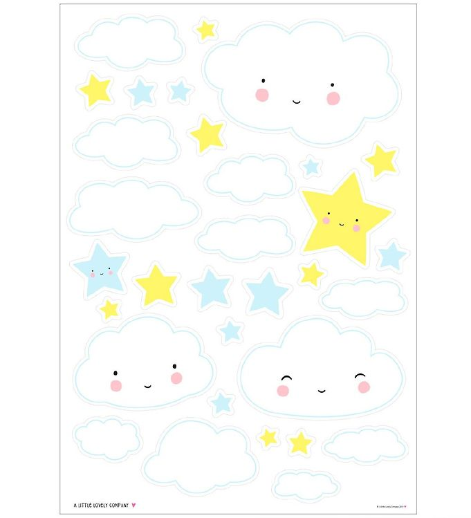 Image of A Little Lovely Company Wallstickers - 35x50 cm - Cloud (NI500)