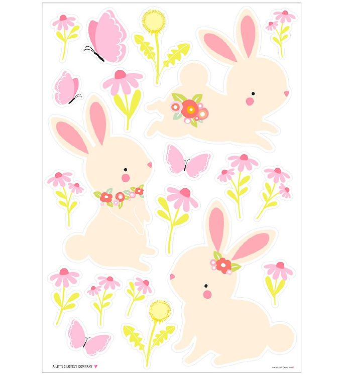 Image of A Little Lovely Company Wallstickers - 35x50 cm - Bunny (NI502)
