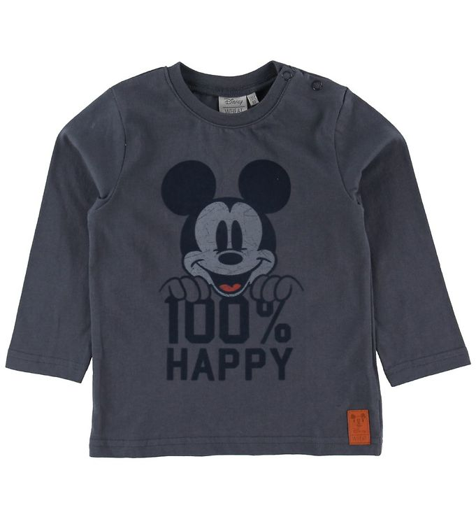 Image of Wheat Disney Bluse - Mickey - Greyblue (NI558)