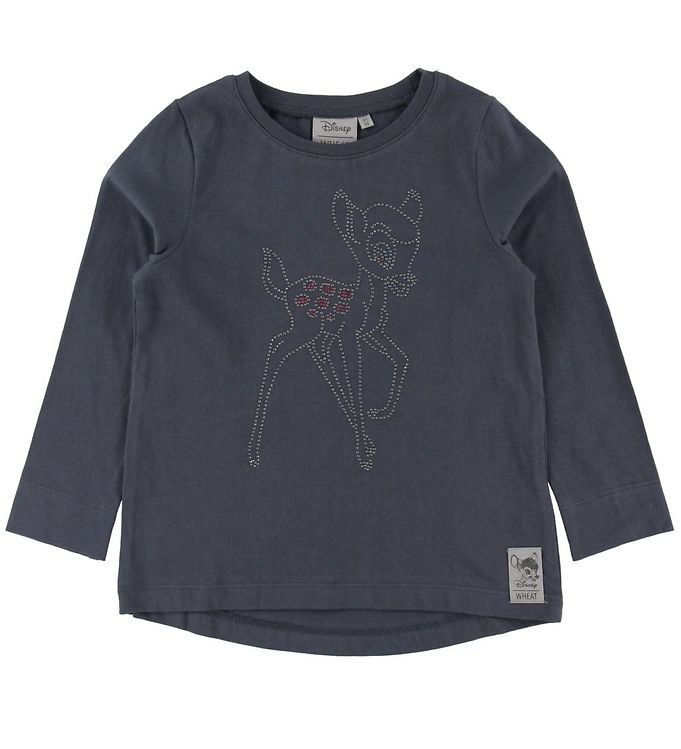 Image of Wheat Disney Bluse - Bambi - Greyblue (NI571)