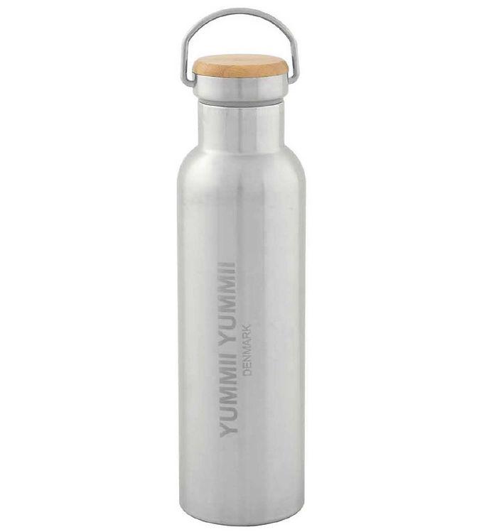 Image of Yummii Yummii Termoflaske - 600 ml - Rustfri stål m. Bambuslåg (NI578)
