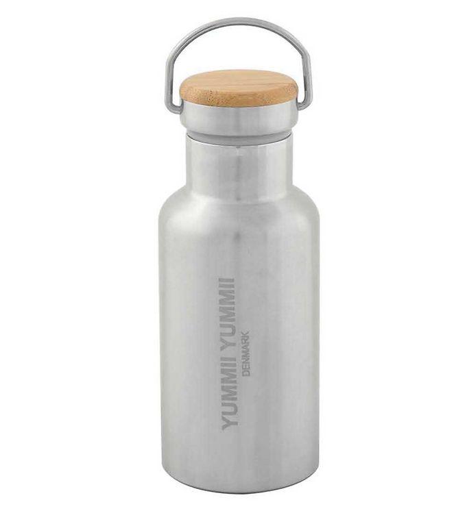Image of Yummii Yummii Termoflaske - 350 ml - Rustfri stål m. Bambuslåg (NI584)