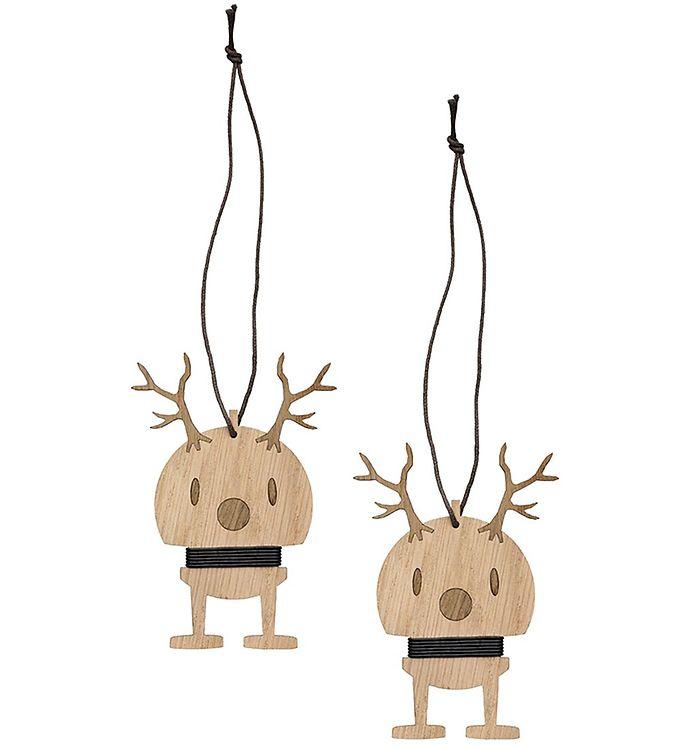 Image of Hoptimist Julepynt - Small Reindeer - 2 stk - 9 cm - Oak (NI763)