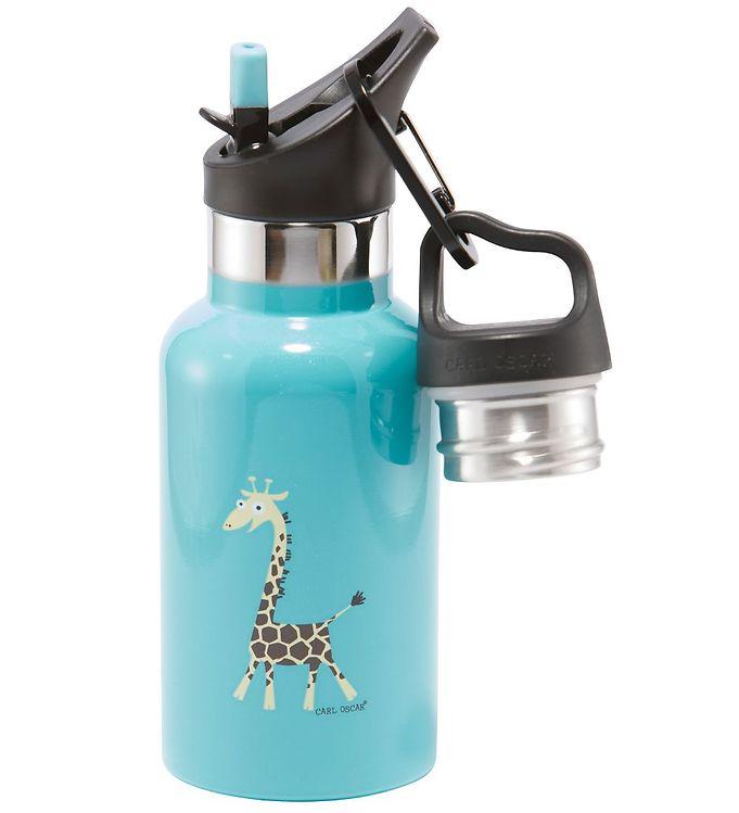 Image of Carl Oscar Termoflaske - TEMPflask - 350 ml - Turquoise Giraffe (NI789)