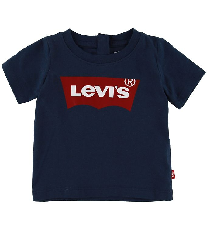 Levis T-shirt - Batwing - Navy m. Logo