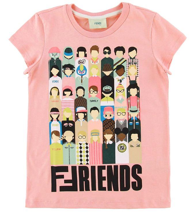 Image of Fendi T-shirt - Rosa m. Friends (NJ008)