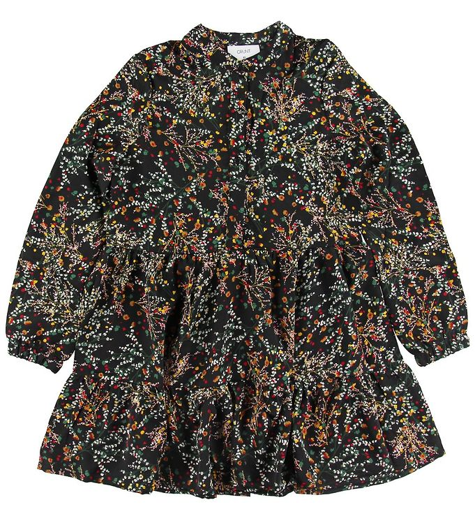 Image of Grunt Kjole - Jessi - Black Flower (NJ027)