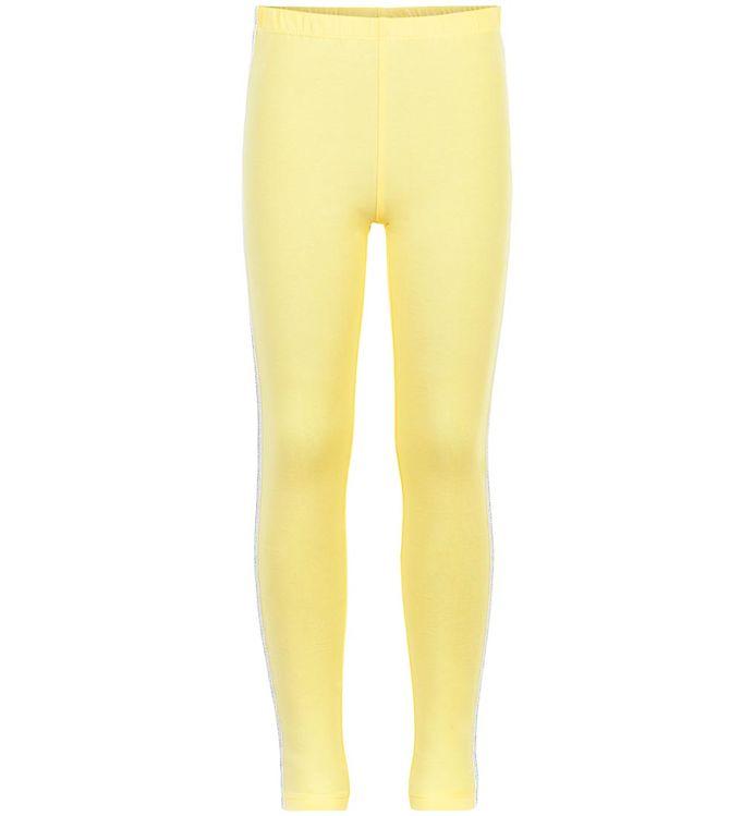 Image of Creamie Leggings - 3/4 - Popcorn m. Glimmerstribe (NJ170)