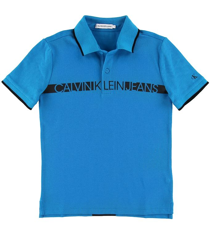Image of Calvin Klein Polo - Hero - Blå m. Logo (NJ359)