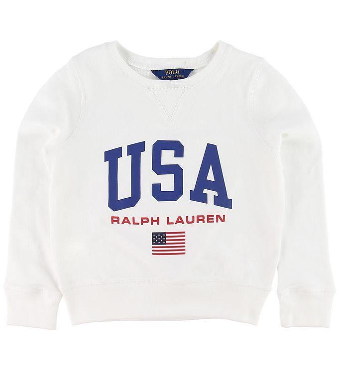 Image of Polo Ralph Lauren Sweatshirt - Hvid m. Print (NJ384)