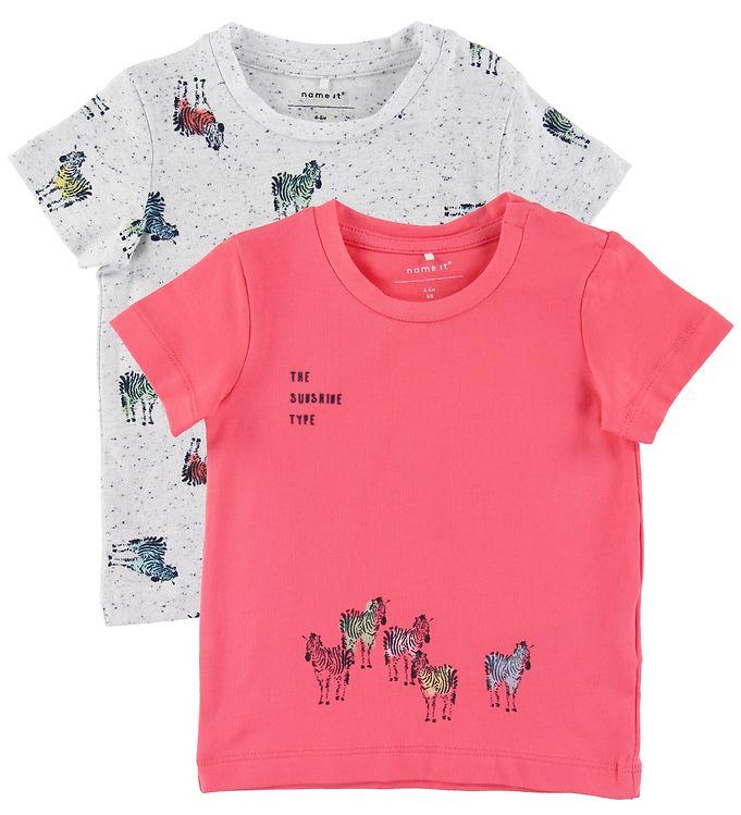 Image of Name It T-shirts - 2-pak - NbmJefiko - Calypso Coral (NJ862)