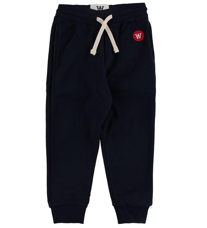 Image of Wood Wood Sweatpants - Ran Kids - Navy m. Bindebånd (NK192)