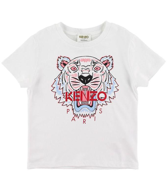 Kenzo T-shirt - Tiger JG 6 - Hvid m. Print