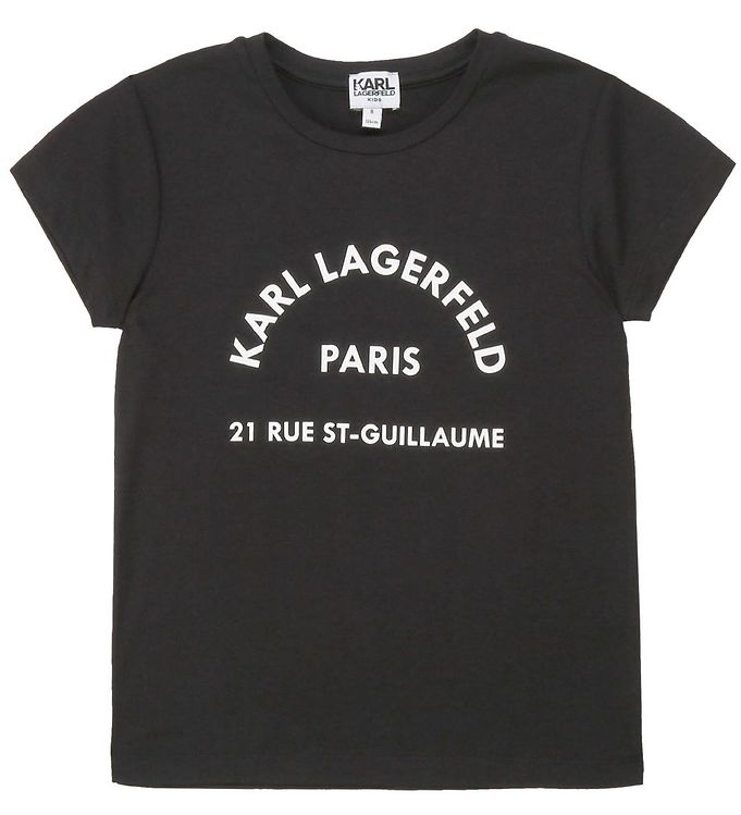 Image of Karl Lagerfeld T-shirt - Rue St-Guillaume - Sort (NK553)