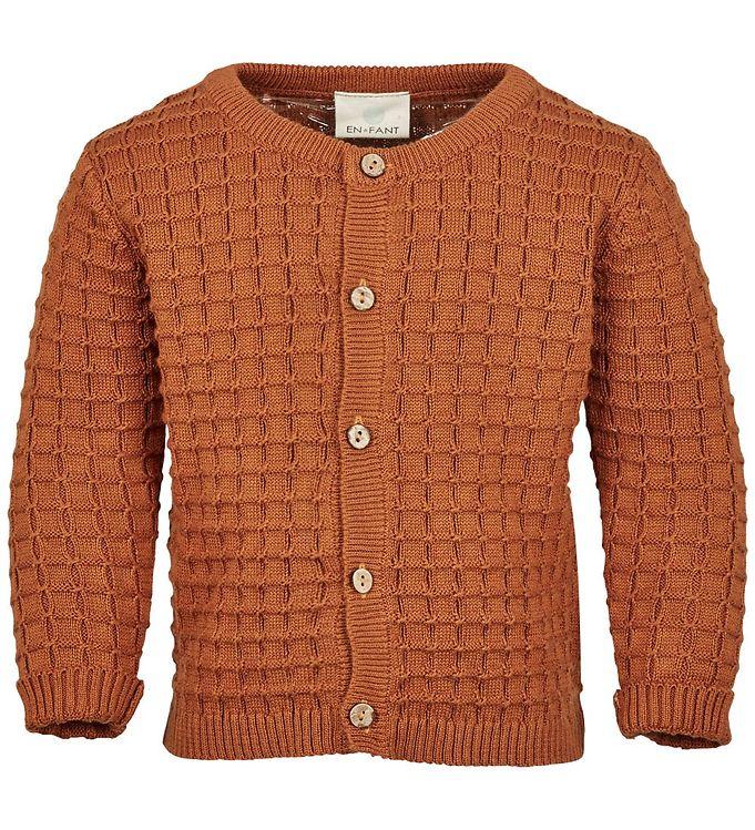 Image of En Fant Cardigan - Strik - Leather Brown (NL368)