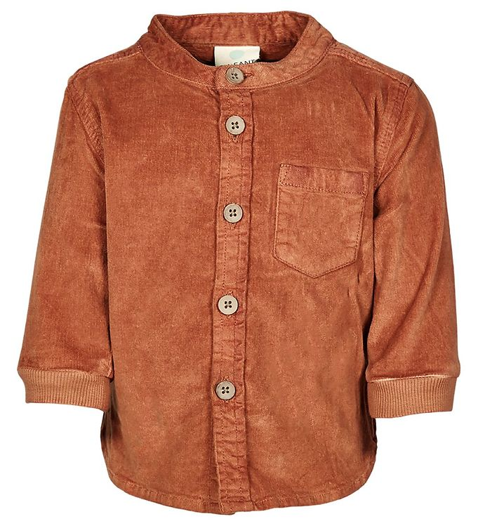 Image of En Fant Skjorte - Fløjl - Leather Brown (NL371)